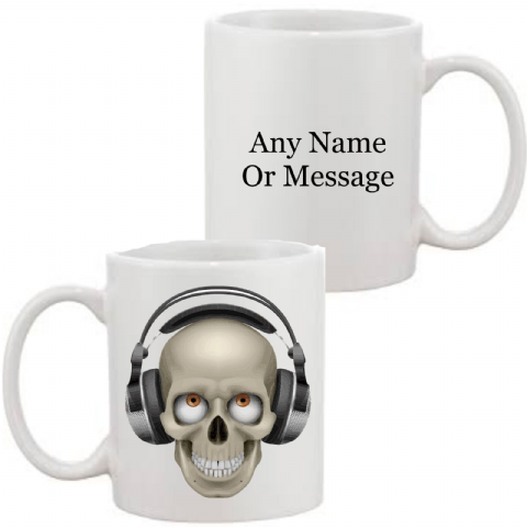 Skull/Headphones Mug